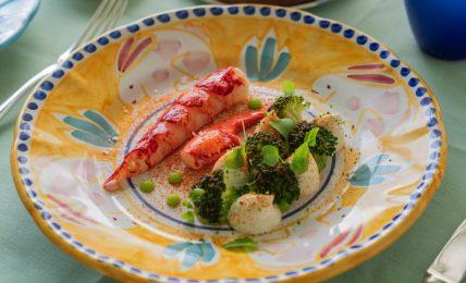 la-ricetta-della-settimana:-astice-blu-all'insalata,-broccoli-e-bufala