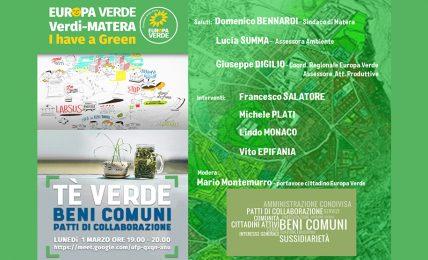 """matera:-te-verde-""""gestione-dei-beni-comuni"""".-evento-online-lunedi-1-marzo-alle-ore-19:00"""