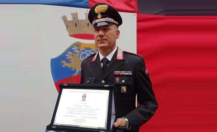 festa-dell'arma-dei-carabinieri-2021:-premiato-a-roma-il-luogotenente-gianluca-galati,-comandante-della-stazione-carabinieri-di-tricarico